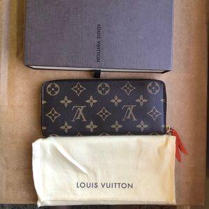 Louis Vuitton Clemence monogram Wallet in Orange